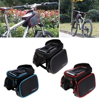 Waterproof Touch Screen Bike Bag Front Frame Top Cell Phone TPU Cycling Bag For MTB Road