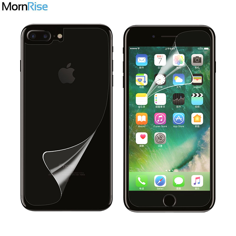 2Pcs = 1Front + 1Back Full body For iphone 8 6 6S 7 Plus Guard Crystal Clear HD for iPhone X XR Xs Max Screen Protector Film