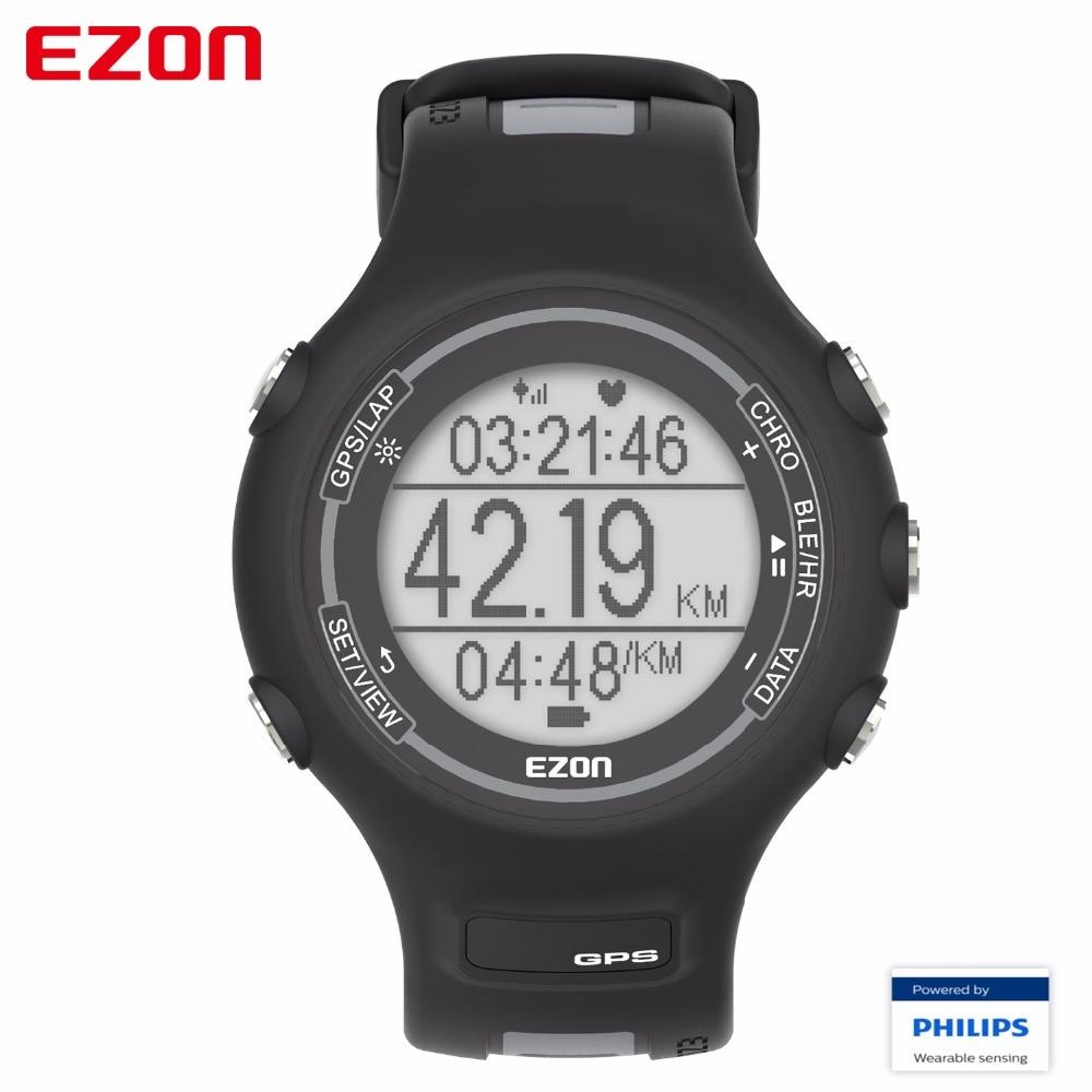 EZON GPS Sport Watch Waterproof Smart Bluetooth Optical Sensor Heart Rate Monitor Digital Watch Clock Men saat Relogio Masculino