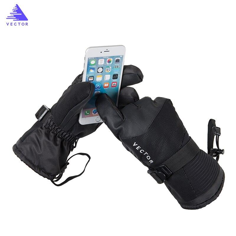Touch-screen Compatibilit Ski Fishing Gloves Men Women Winter Outdoor Sport Warm Waterproof Windproof Bike Snowboard Snowmobile