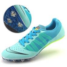 Мужская спортивная обувь с шипами размера плюс 35-45, кроссовки унисекс для бега