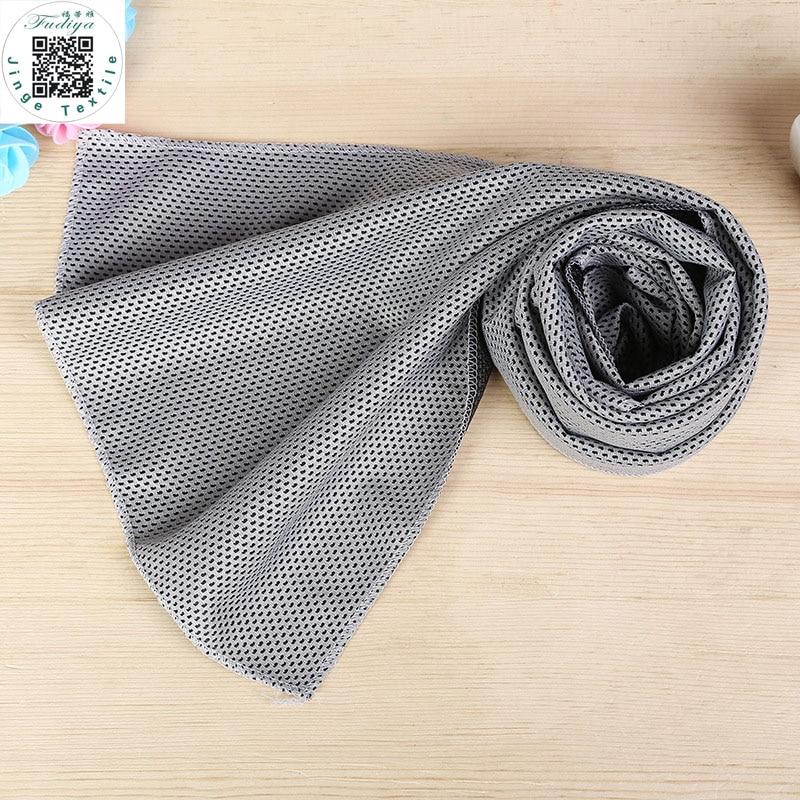 Neue Doppelschichten Eishandtuch viele Farben Gebrauchsanweisung Sofortkühlungstuch Wärmeentlastung Wiederverwendbares kaltes Handtuch