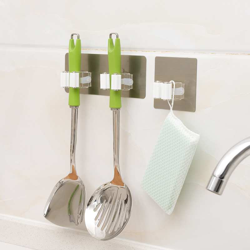 1PC New Wall Mounted Kitchen And Bathroom Wall Broom Holder Use As Hanging Cleaning Tools 14