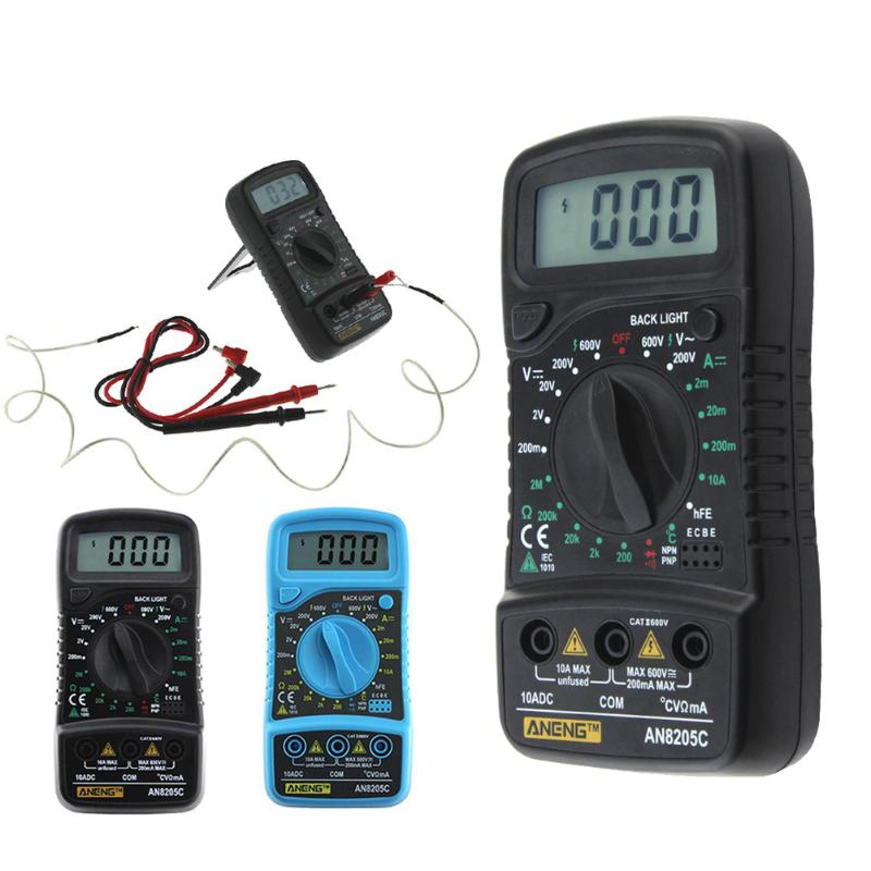 цена AN8205C ANENG Multimeter 6000 Counts Backlight AC DC Ammeter Voltmeter Ohm Portable Meter voltage Multimeter Temperature
