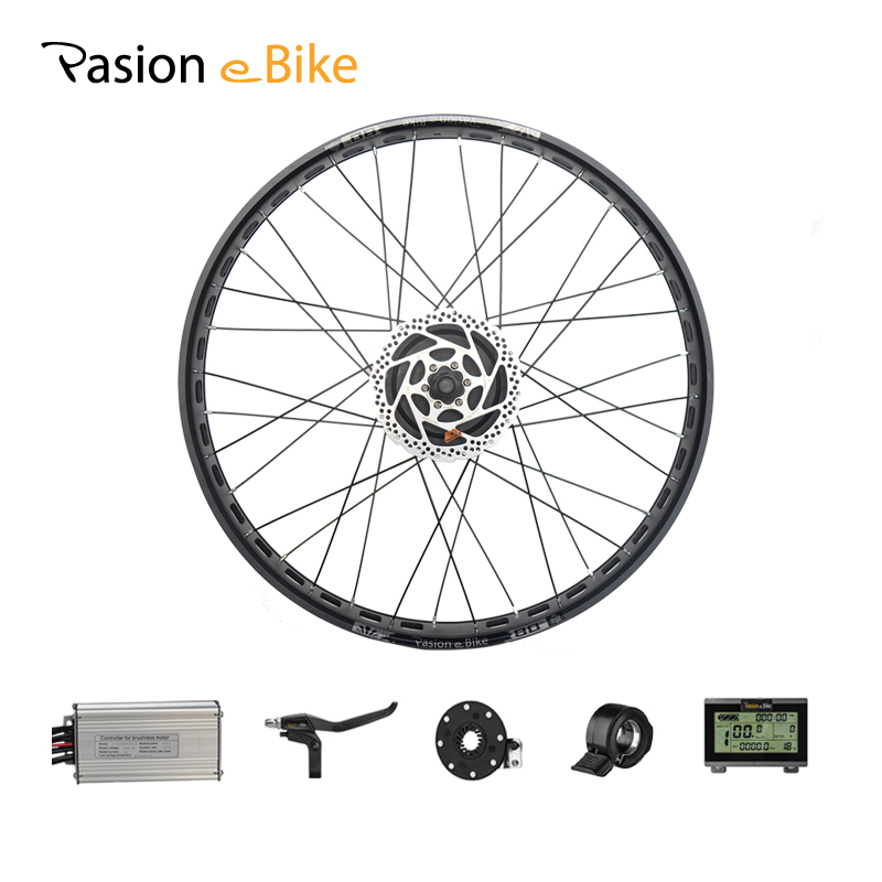 "PASION E BIKE 48V 1000W Electric Bicycle Conversion Kits 20'' 26"" Fat Bike Rear Wheel Brushless Gear Motor Kits 190mm Hub Motor"