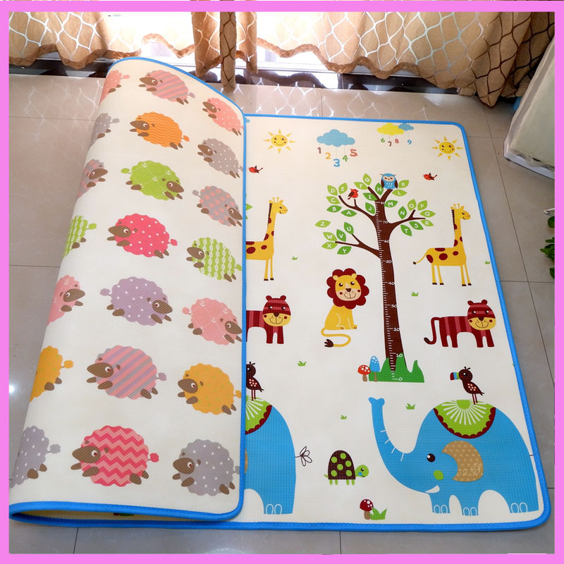 XPE Thickness 1CM Living Room Baby Crawling Mat Food Grade Soft Anti Damp Climbing Pad Gym Activity Game Floor Play Mat 2*1.8M