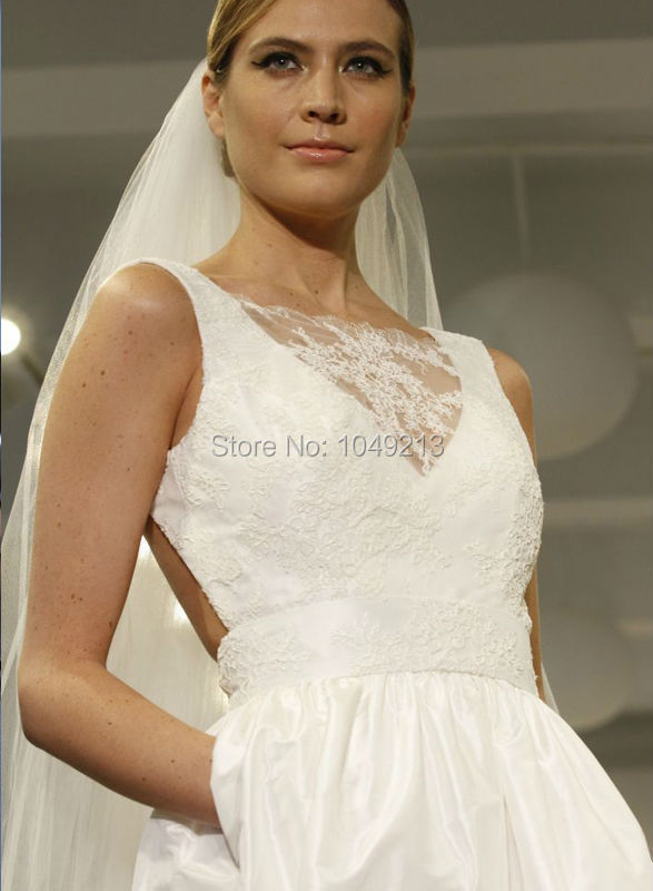 b1db5826b192 affordable simple backless open back ivory taffeta pockets a line wedding  dress bridal gowns on sales size 2 4 6 8 10 12-in Wedding Dresses from  Weddings ...