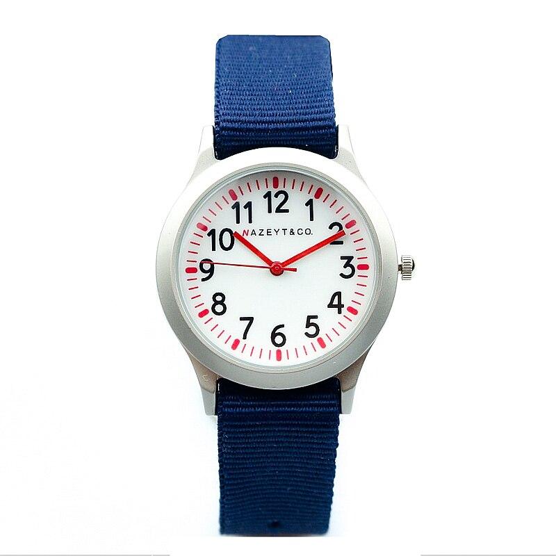 Médio e pequenos meninos e meninas aprendem a tempo de design simples esportes relógio relógio estudante de moda mãos bonito exército vermelho caçoa o presente