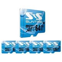 Suntrsi Sky Blue Micro SD Class 10 High Speed Memory Card 64GB 32GB Microsd Card 16GB