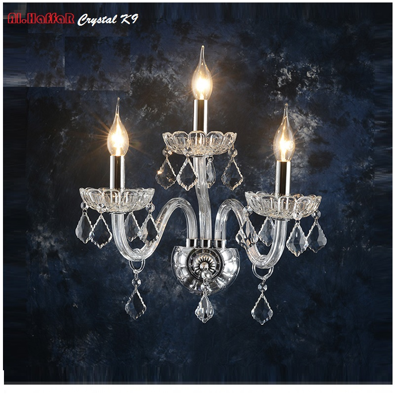 Luxury Wall Sconce Lighting European-style wall lights lamp bedside lamp crystal lamp Wall sconce bedroom stairs living room 16w big u shape led wall lamp bedside lamp modern living room corridor hallway stairs lights pathway sconce lighting