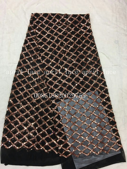 aa002-1 newest best quality grid paillette pattern net mesh lace fabric for wedding party