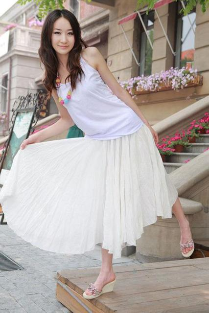 Free shipping !Fashion The beach holiday Bohemian The Linen cotton  drape pure color bust dress