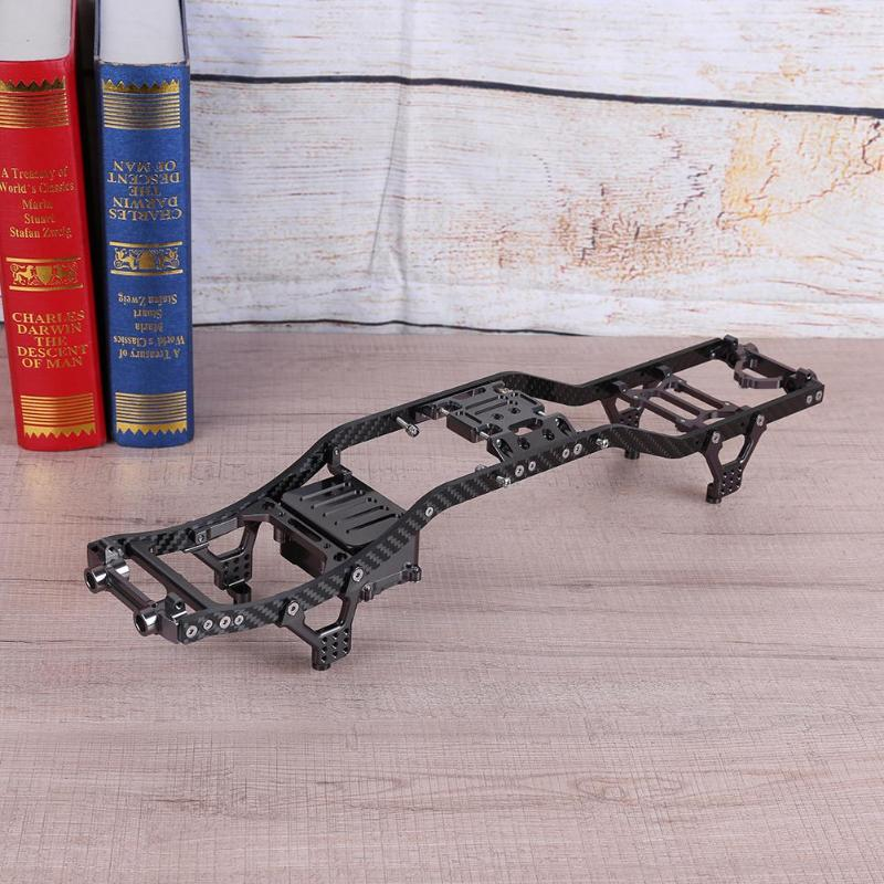 Carbon Fiber Metal Chassis Beam Rock Crawler Car Frame for RC Axial Scx10 High Quality Car Appliance ultra light type carbon fiber car frame one body forming design mountain bike car frame beautiful and delicate tb121106
