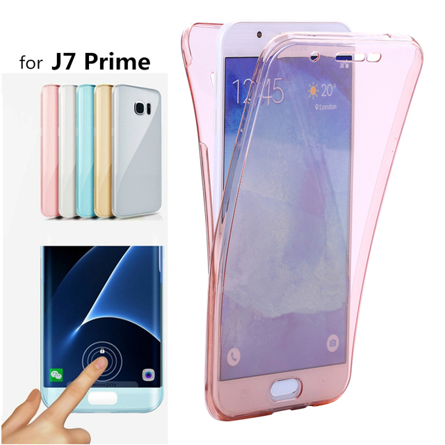 various colors 84a7c 86682 US $1.99 5% OFF|J7Prime Crystal Touch Full body Transparent Case for  Samsung Galaxy J7 Prime Cover Silicone Phone bag Cases SM J7 Prime G6100-in  ...