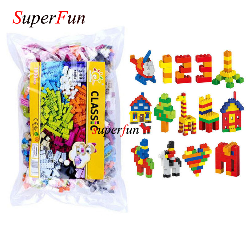 Wholesale 1000pcs early teaching spelling pieces of building blocks DIY small particle toy kid gifts