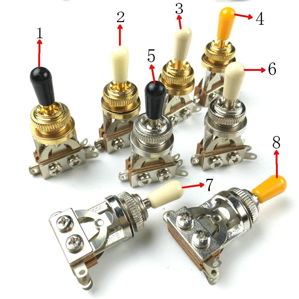 buy 3 way guitar pickup selector toggle switch for epi lp sg nickel golden. Black Bedroom Furniture Sets. Home Design Ideas