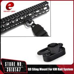 Element myśliwski KeyMod i M-LOK QD Sling adapter przegubowy do systemu szyn KeyMod system szyn z pętlą ME04033