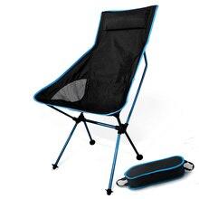 Silla plegable portátil con forma de luna, taburete plegable para pesca, Camping, barbacoa, asiento extensible para senderismo, muebles para el hogar y la Oficina ultraligeros para el jardín