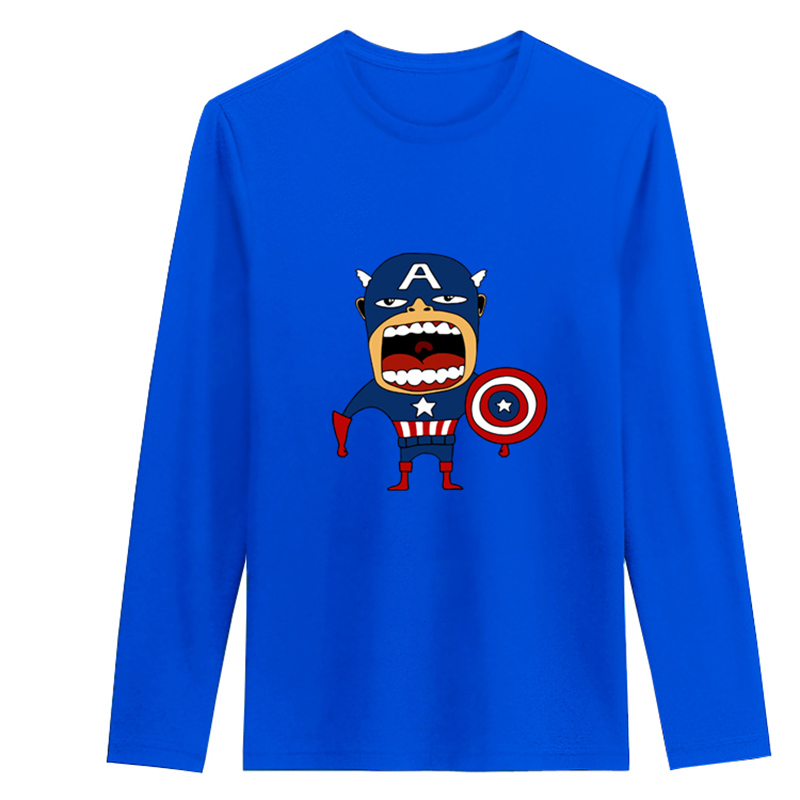 2016 autumn 100 cotton akira t shirt men captain america for Akira long sleeve shirt