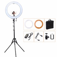 55W 5500K 240 LED Photographic Lighting Dimmable Camera Photo Studio Phone Video Photography Ring Light Lamp