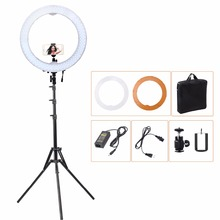 55W 5500K 240 LED Photographic Lighting Dimmable Camera Photo Studio Phone Video Photography Ring Light Lamp +Light Stand Tripod