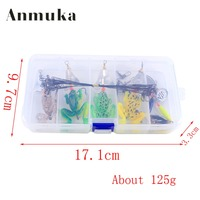 Anmuka Plastico Frogs Soft Fishing Lure Set 26Pcs Box Rubber Bass Spinner Bait Spoon Lures Carp