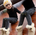 New Year, the Hot sale of autumn and winter Girls jeans Girls velvet pencil pants children eyes thick jeans trousers