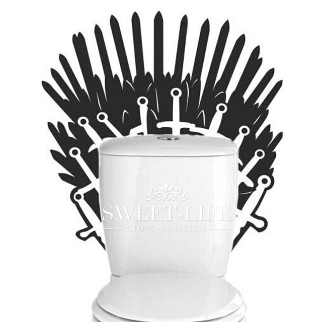 Game Of Thrones Poster Iron Throne Toilet Bathroom Wall Sticker Wall Stickers Home Decor Home Decoration