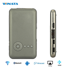 Mini Proyector DLP Proyector Portátil Wifi Smartphone Android Bluetooth 8 GB/16 GB/32 GB Full HD de Vídeo proyector de Cine En Casa