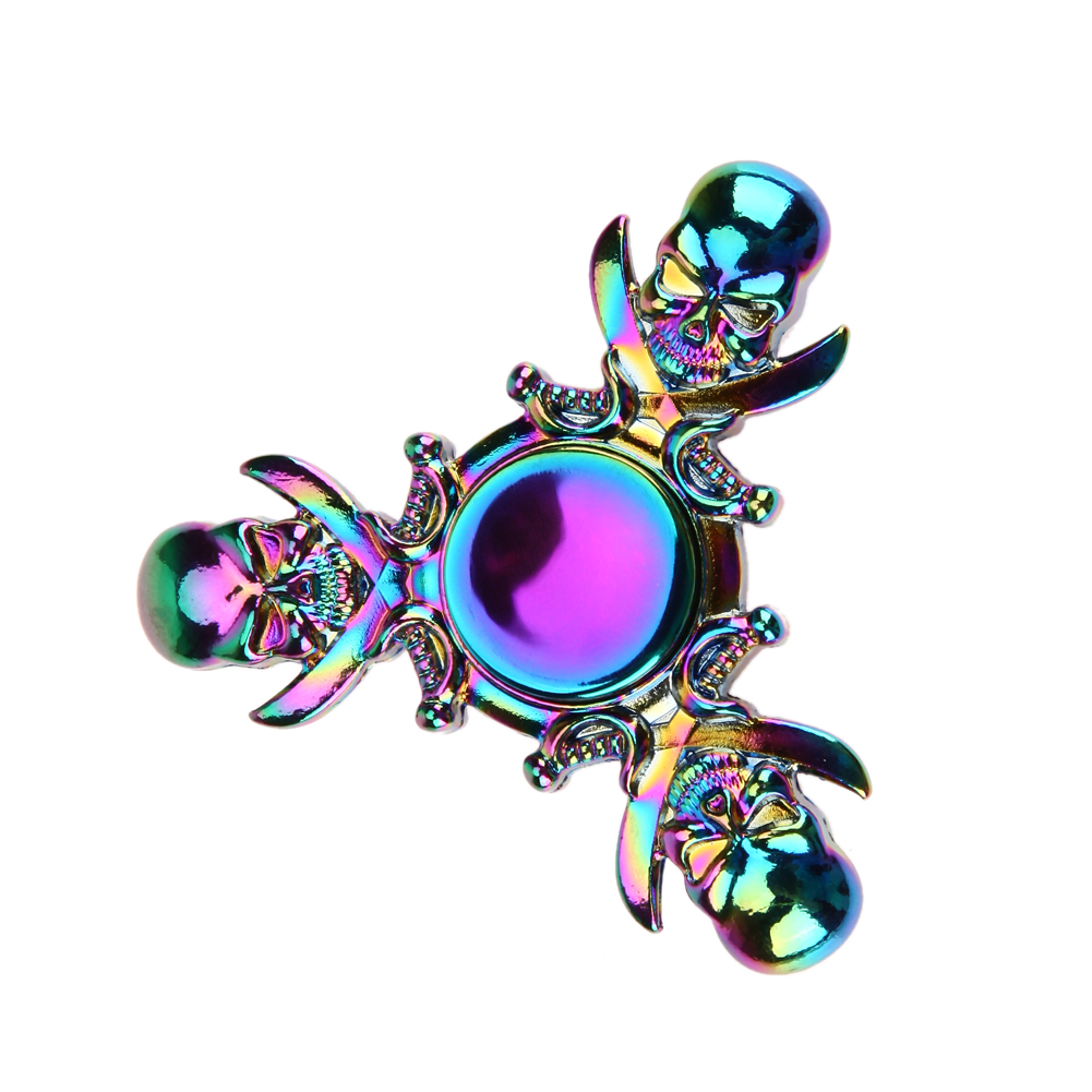 Gothic Fidget Spinner For Adults Metal Fidget Spinner Cool Alloy Hand Spinner for Autism and ADHD