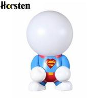 Horsten LED Cute Cartoon Table Lamp Creative Rechargeable Night Light Home Decor Bedside Lamp For Kis Children Christmas Gift