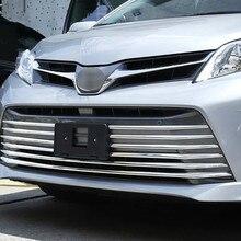ABS Chrome автомобилей спереди Гилла отделкой Авто решетка украшения крышка планки для Toyota Sienna шт. 10 шт. автомобиля интимные аксессуары