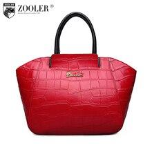 ZOOLER Mode frauen leder tasche damen Alligator muster schultertasche handtaschen frauen berühmte marken 100% rindlederbeutel #6110