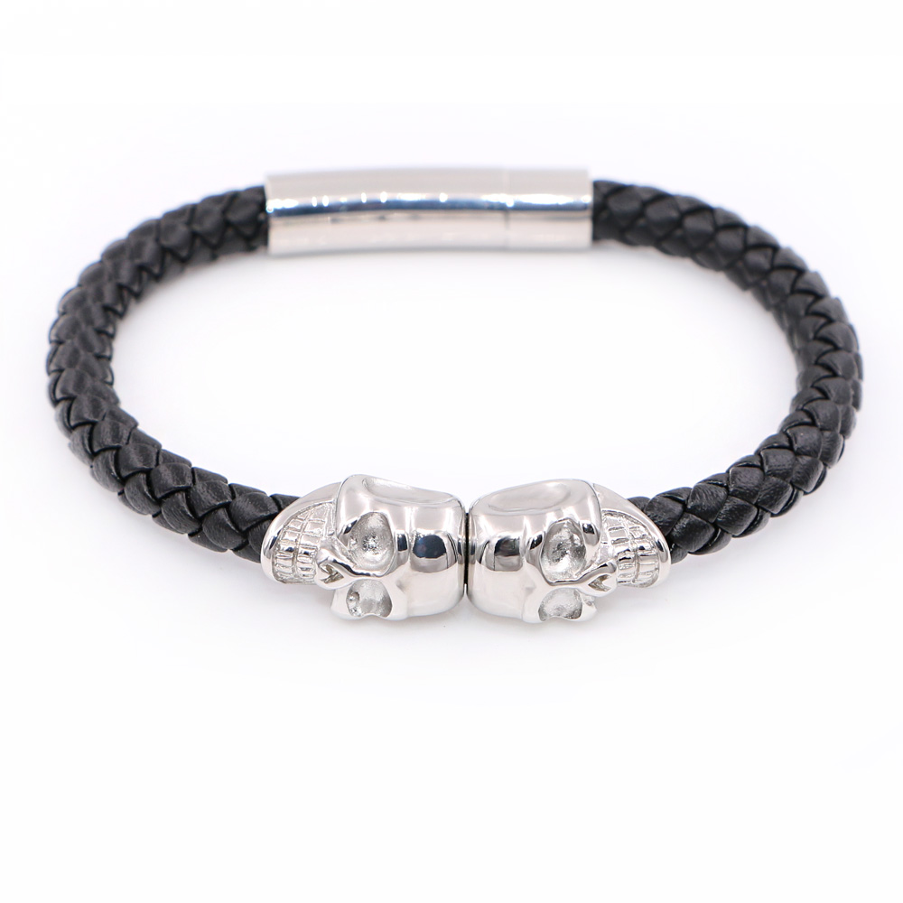 shareyourstyle share your skull page black twin leather north nappa bracelet style insta gold
