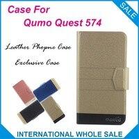 5 Colors Hot! Qumo Quest 574 Case Fashion Business Magnetic clasp Flip Leather Exclusive Case For Qumo Quest 574 Cover
