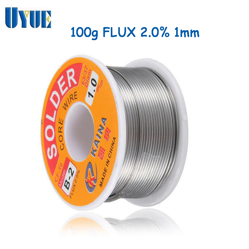 UYUE Soldering Wire Welding Iron Wire Reel 100g/3.5oz FLUX 2.0% 1mm 63/37 Tin Lead Line Rosin Core Flux Solder Soldering 25  цены