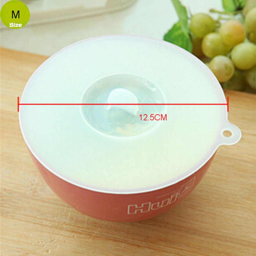 3 Kích Thước Nắp Silicone Tái Sử Dụng Con Dấu Cao Cấp Stretch Thực Phẩm Kết Thúc Tốt Đẹp, Cookware Tiện Ích Pot Pan Bowl Bìa