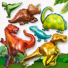 Ballon géant en aluminium de dinosaure, 1 pièces, décorations de fête d'anniversaire de dinosaure pour enfants, jouet du monde jurassique