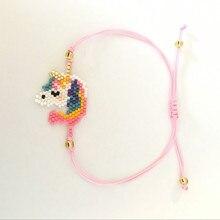 Go2boho MIYUKI Bracelet Horse Pulseiras Moda 2019 Women Bracelets Handmade Child Girl Gift Jewelry Insta Miyuki Joyeria