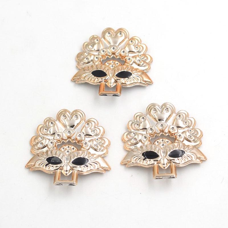 43mm,20pcs Rose Gold No Fade Mask Metal Leg Ribbon Buckles Bow Acessories Invitation Ribbon Slider Headband Hair Clip Diy Beads & Jewelry Making
