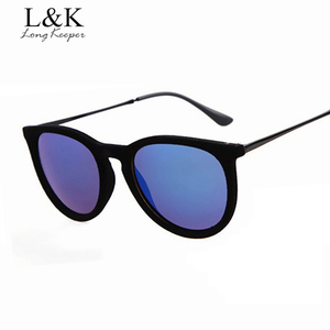 Long Keeper Elegent Ladies' Sunglasses Sexy Velvet Sun Glasses Vintage Oval Sunglasses Retro Eyewares gafas Gafas de sol UV400