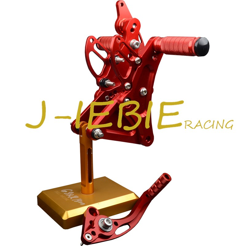 CNC Racing Rearset Adjustable Rear Sets Foot pegs Fit For Buell XB9 XB12 XB9R XB12R S RED morais r the hundred foot journey