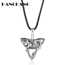 Vintage Accessories Fenrir Irish Knot Design Celtics Fox Pendant Necklace Viking Jewelry Leather Rope Colar Collier for Women(China)