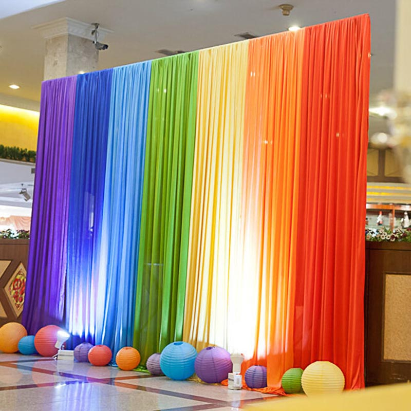 Popular rainbow party backdrop buy cheap rainbow party for Background decoration for wedding