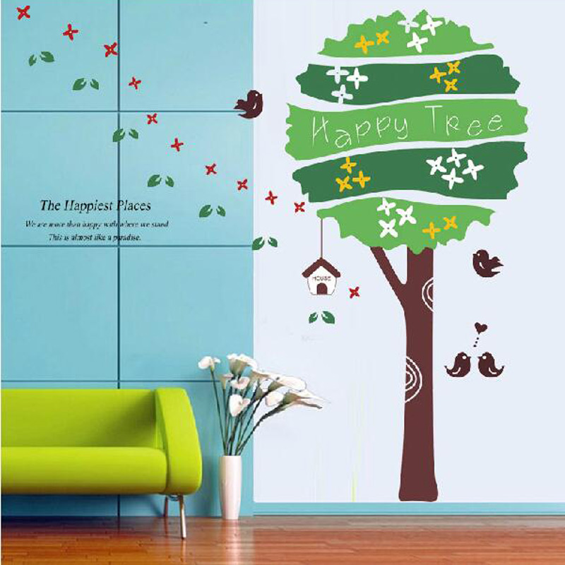 Online get cheap tree wall decal alibaba for Cheap wall mural decals