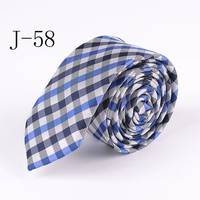 Fashion 5cm Design Ties Fancy Vintage Blue with White Plaid Neck Tie High Quality Jacquard Woven Gravatas for Husband
