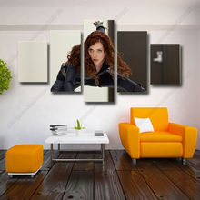 Modern photography spray painting movie posters female characters 5p combination household adornment art pictures hang a picture