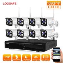 LOOSAFE 8CH 1080 P Беспроводной CCTV Камера Системы Беспроводной NVR комплект в/открытый IP66 день/ночь DIY ip-видеокамера наблюдения Системы