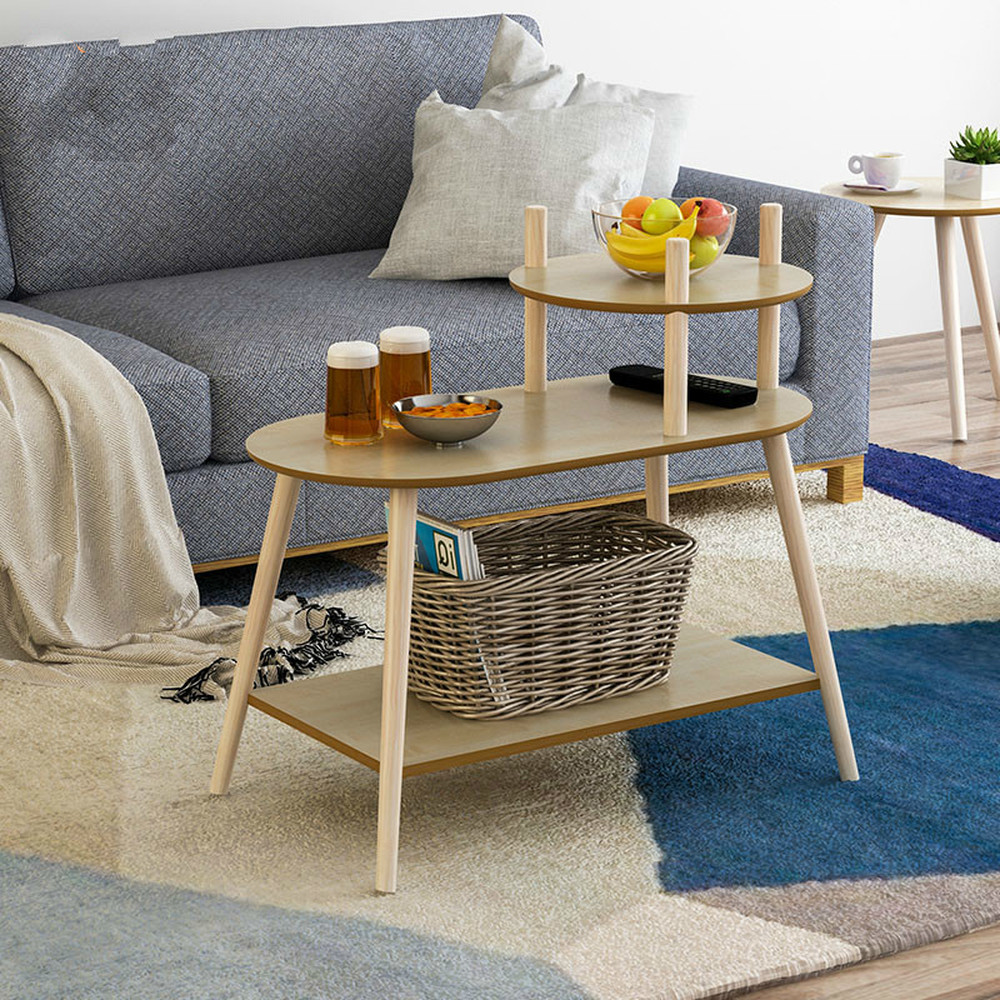 Coffee table Nordic simple modern side corner several three-layer tea table small apartment coffee table solid wood LM01041111Coffee table Nordic simple modern side corner several three-layer tea table small apartment coffee table solid wood LM01041111