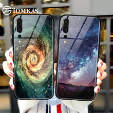 TOMKAS Glass Silicon Case For Huawei Mate 10 P20 Lite P20 Pro P Smart Nova 3 Cover Phone Case for Honor 10 9 Lite 7A Pro Play(China)